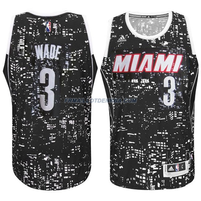 Maillot Basket Miami Heat Noel Wade 3 Noctilucent 2016