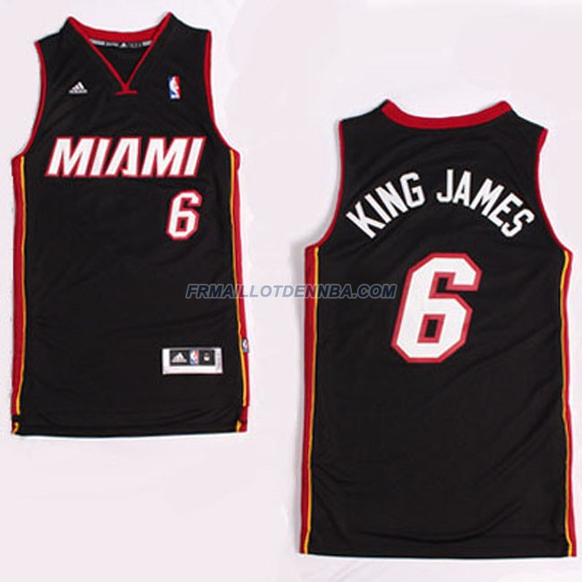 Maillot Basket Miami Heat Retro James 6 Blanc 2016