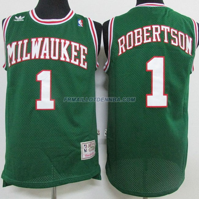 Maillot Basket Milwaukee Bucks Retro Robertson 1 Vert 2016