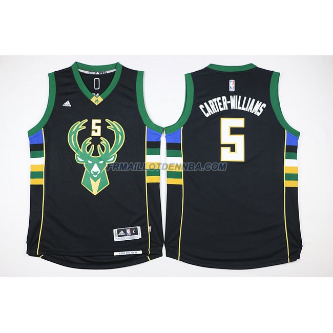 Maillot Basket Milwaukee Bucks Retro Williams 5 Noir 2016