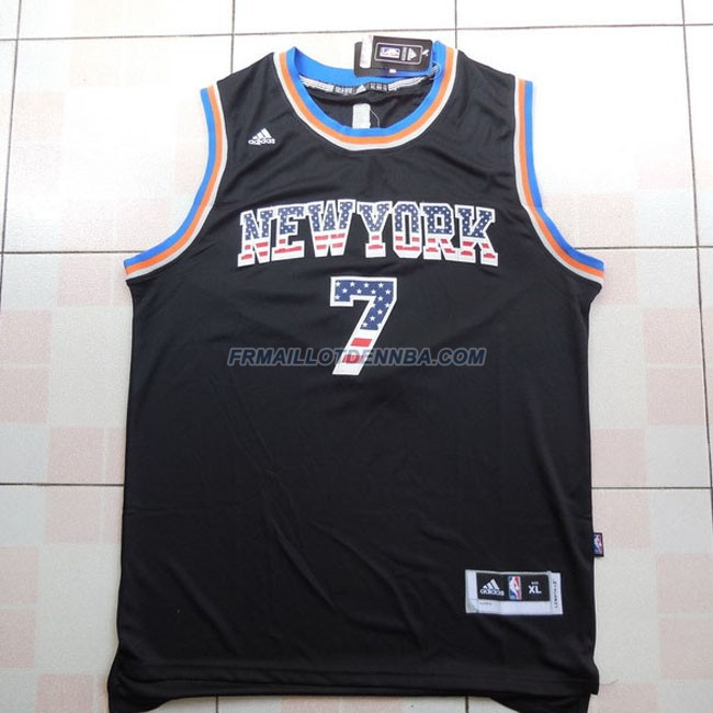Maillot Basket New York Knicks 2017 Anthony 7 Noir