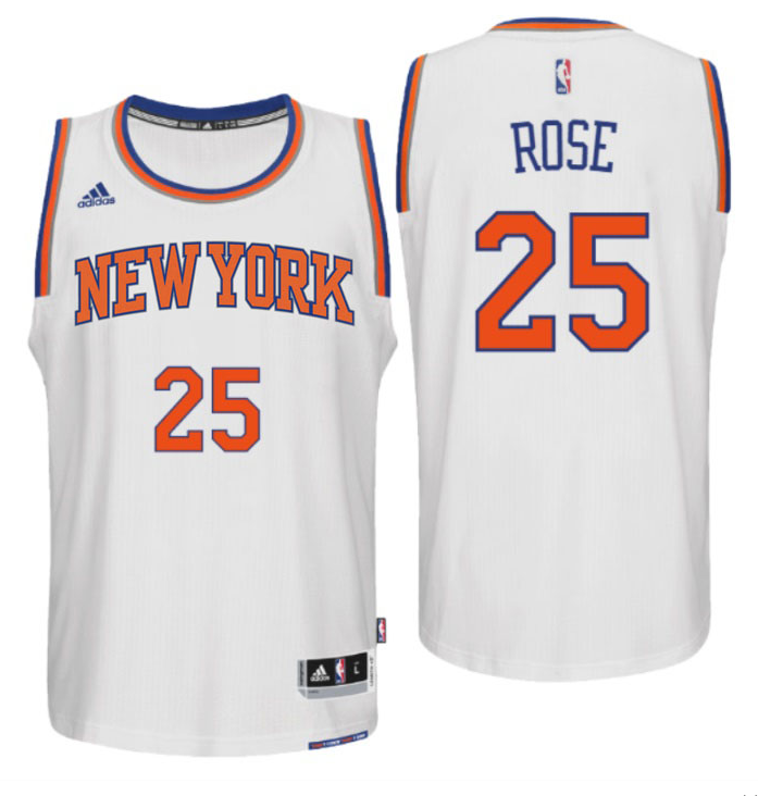 Maillot Basket New York Knicks Rose 25 Blanc 2016