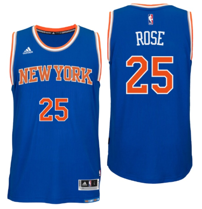 Maillot Basket New York Knicks Rose 25 Bleu 2016