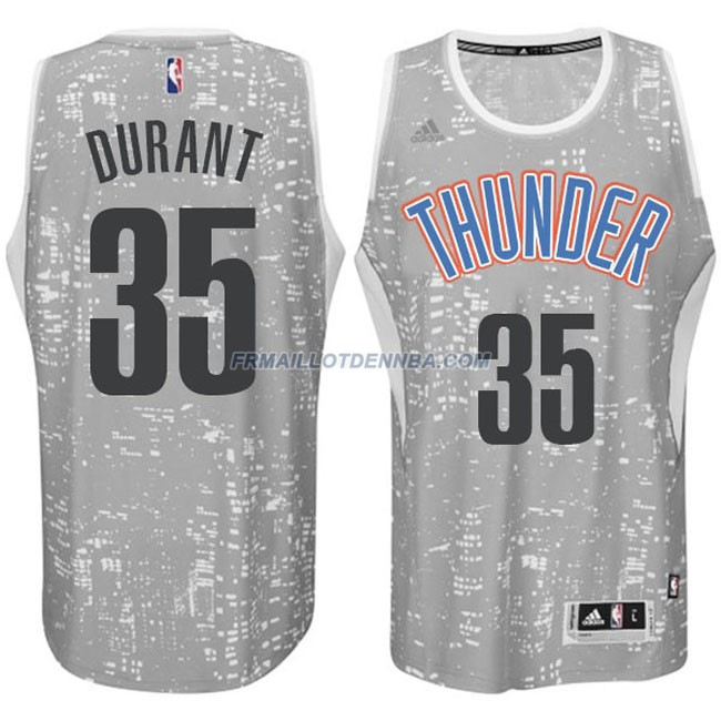 Maillot Basket Oklahoma City Thunder Durant 35 Gris 2016