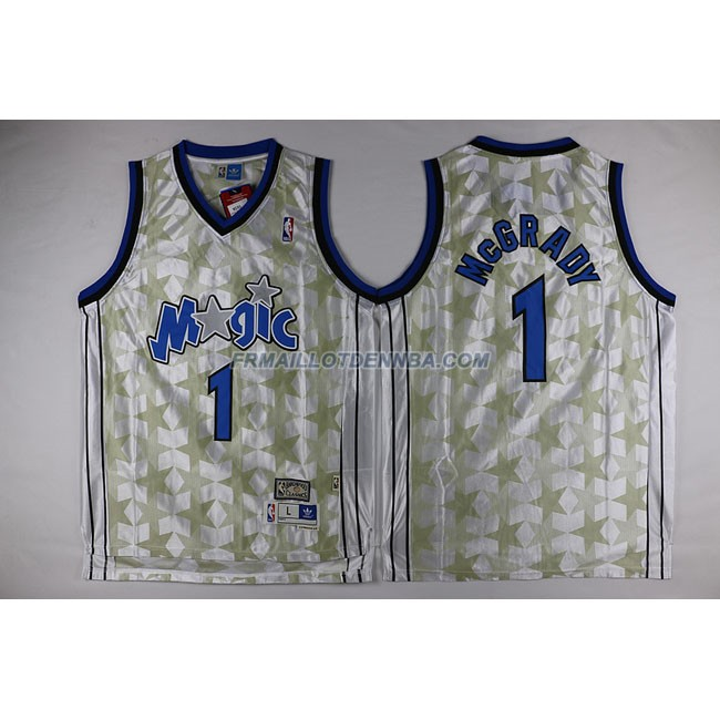 Maillot Basket Orlando Magic Mcgrady 1 Blanc 2016