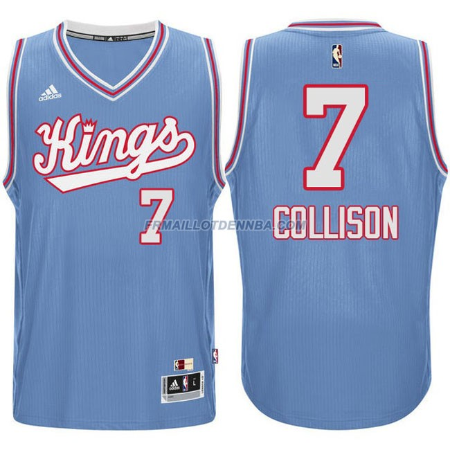 Maillot Basket Sacramento Kings Collison 7 Bleu 2016