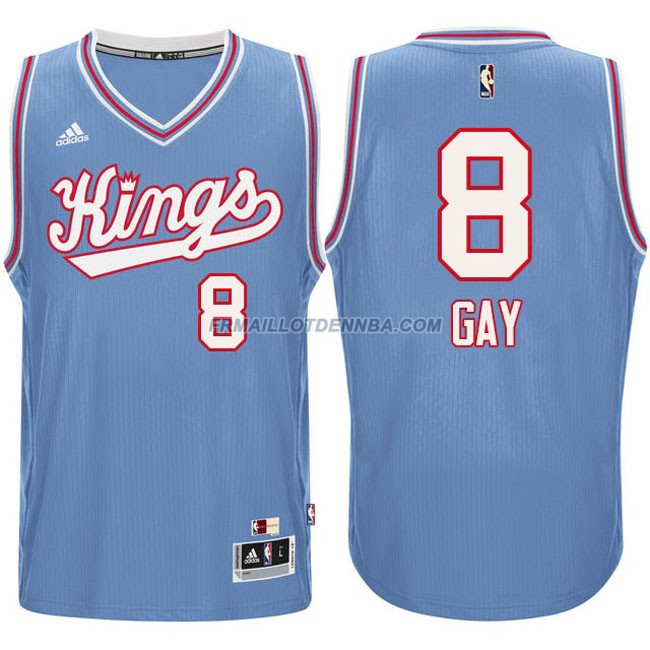 Maillot Basket Sacramento Kings Gay 8 Bleu 2016