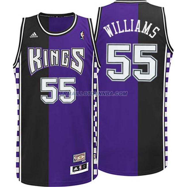 Maillot Basket Sacramento Kings Williams 55 Noir Pourpre 2016