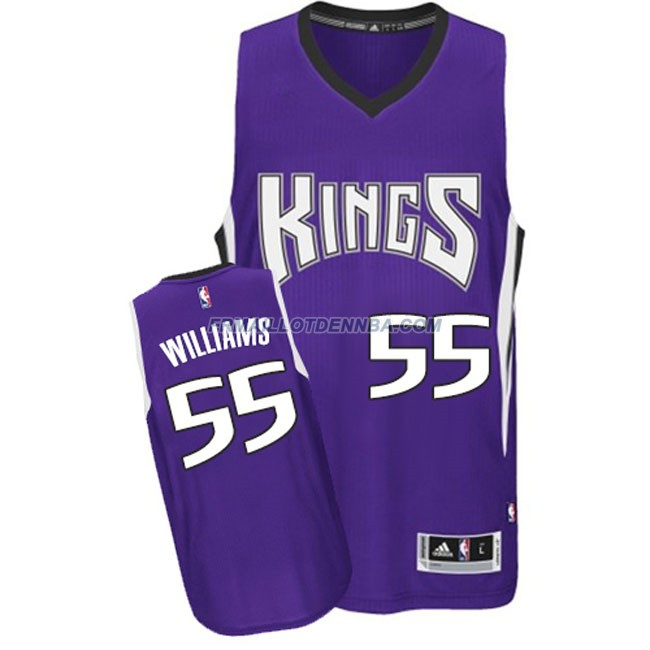 Maillot Basket Sacramento Kings Williams 55 Pourpre 2016