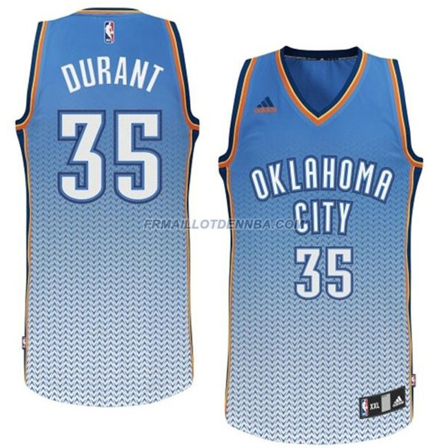 Maillot Basket Thunder Durant 35 Gris Blanc 2016