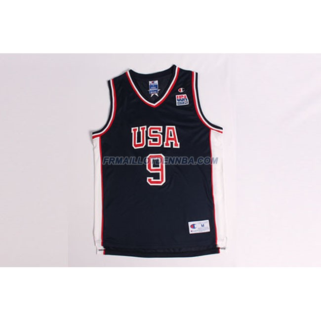 Maillot Basket USA Carter 9 Noir 2000