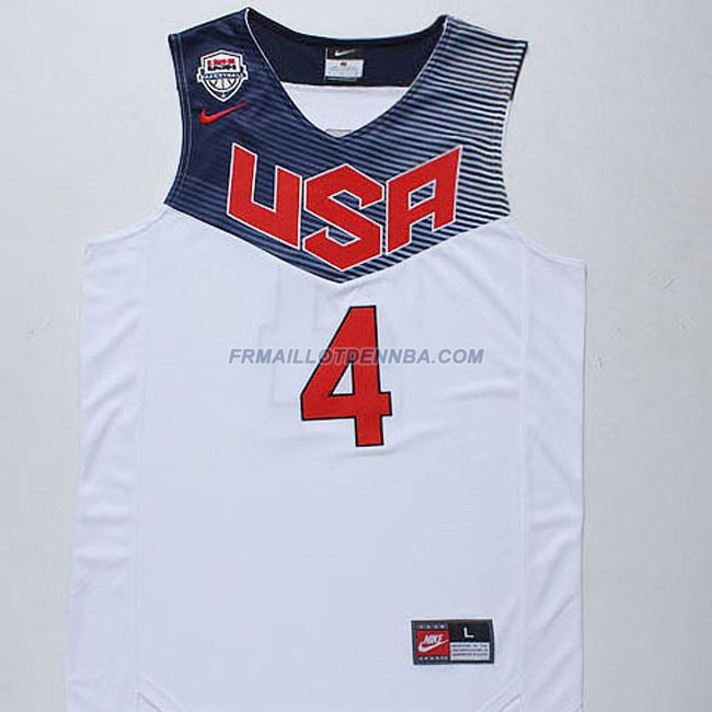 Maillot Basket USA Curry 4 Blanc 2014