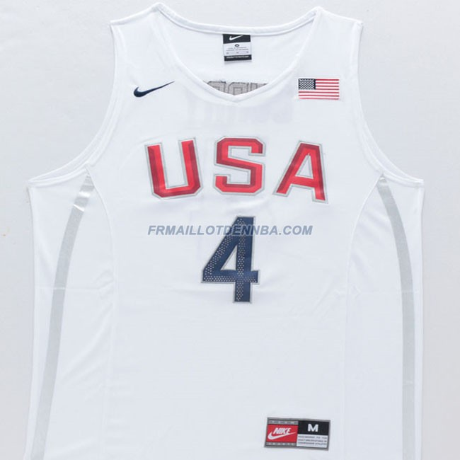 Maillot Basket USA Curry 4 Blanc 2016