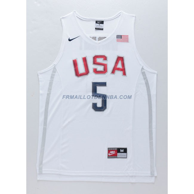 Maillot Basket USA Durant 5 Blanc 2016