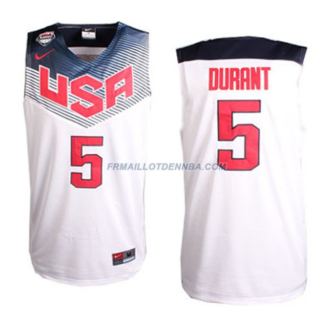 Maillot Basket USA Durrnt 5 Blanc 2014