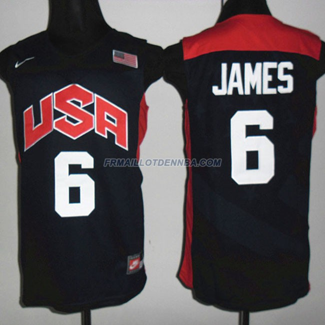 Maillot Basket USA James 6 Noir 2012