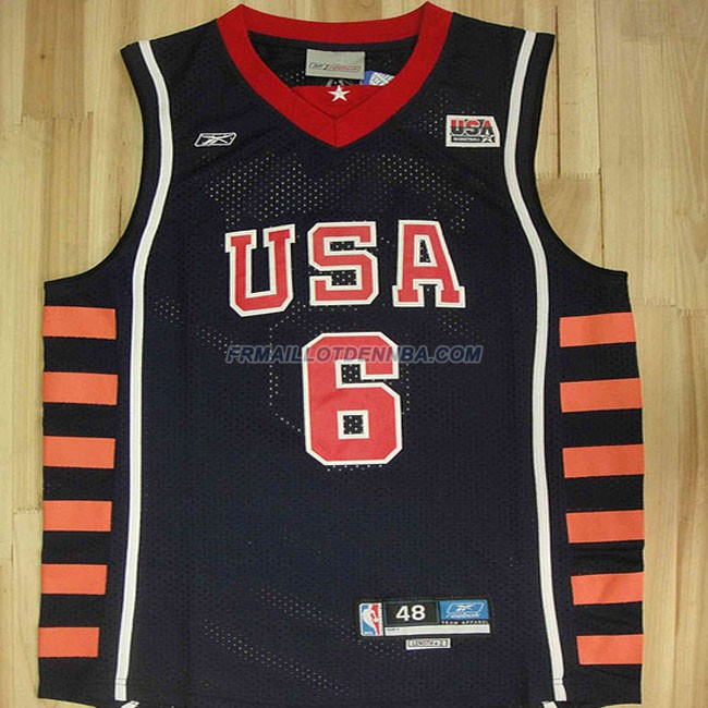 Maillot Basket USA Mcgrady 6 Bleu 2004