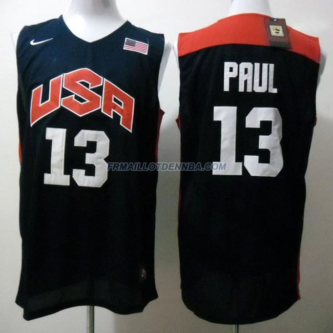 Maillot Basket USA Paul 13 Bleu 2012