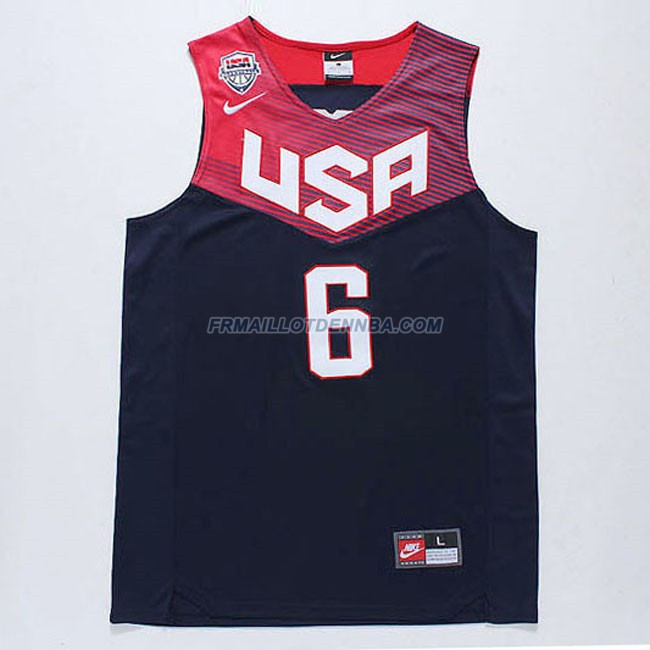 Maillot Basket USA Rose 6 Bleu 2014