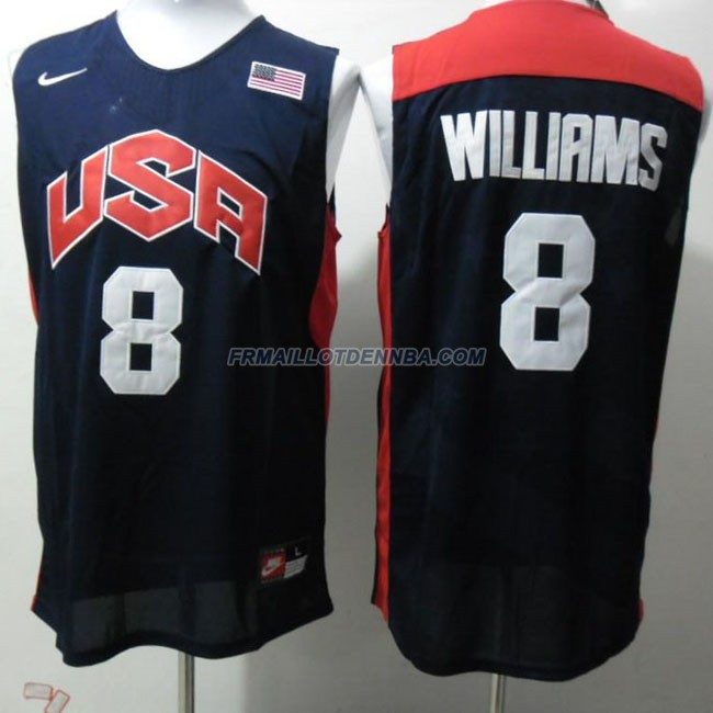 Maillot Basket USA Williams 8 Bleu 2012
