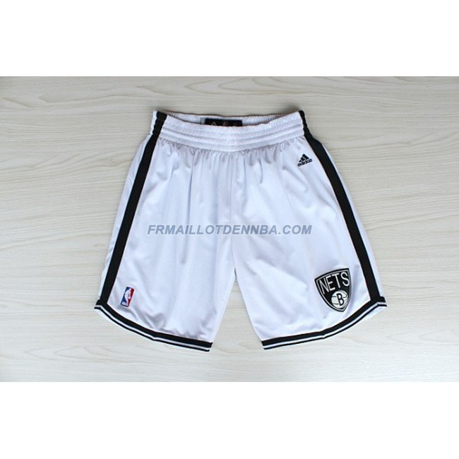 Pantalon Basket Brooklyn Nets Blanc 2016