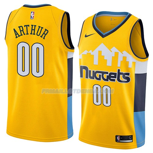 Maillot Denver Nuggets Darrell Arthur Statement 2018 Jaune