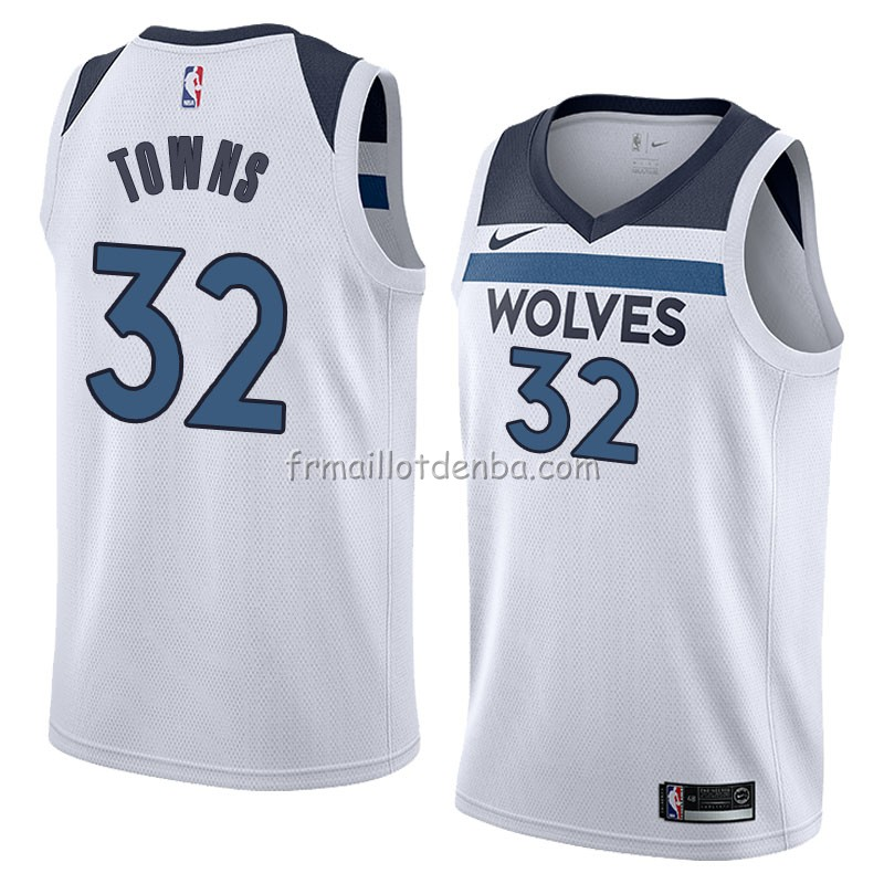 Maillot Minnesota Timberwolves Karl Anthony Towns Association 2018 Blanc