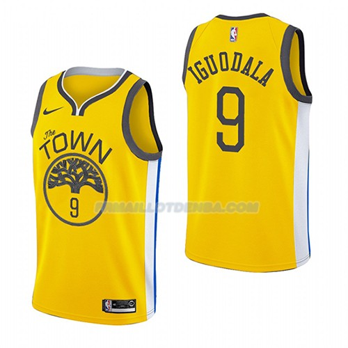 Maillot Golden State Warriors Andre Iguodala Earned 2018-19 Jaune
