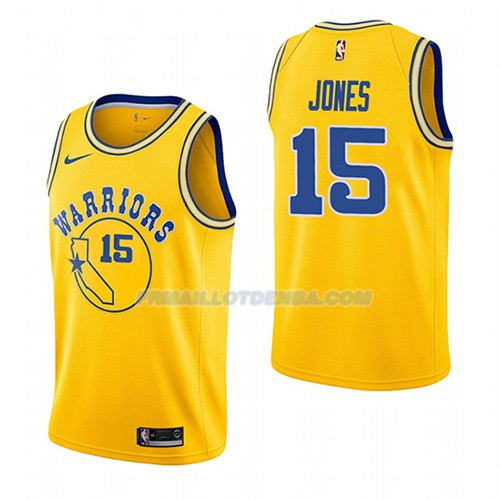 Maillot Golden State Warriors Damian Jones Hardwood Classic 2018-19 Jaune
