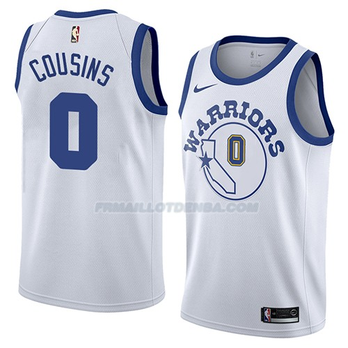 Maillot Golden State Warriors Demarcus Cousins Hardwood Classic 2018-19 Blanc