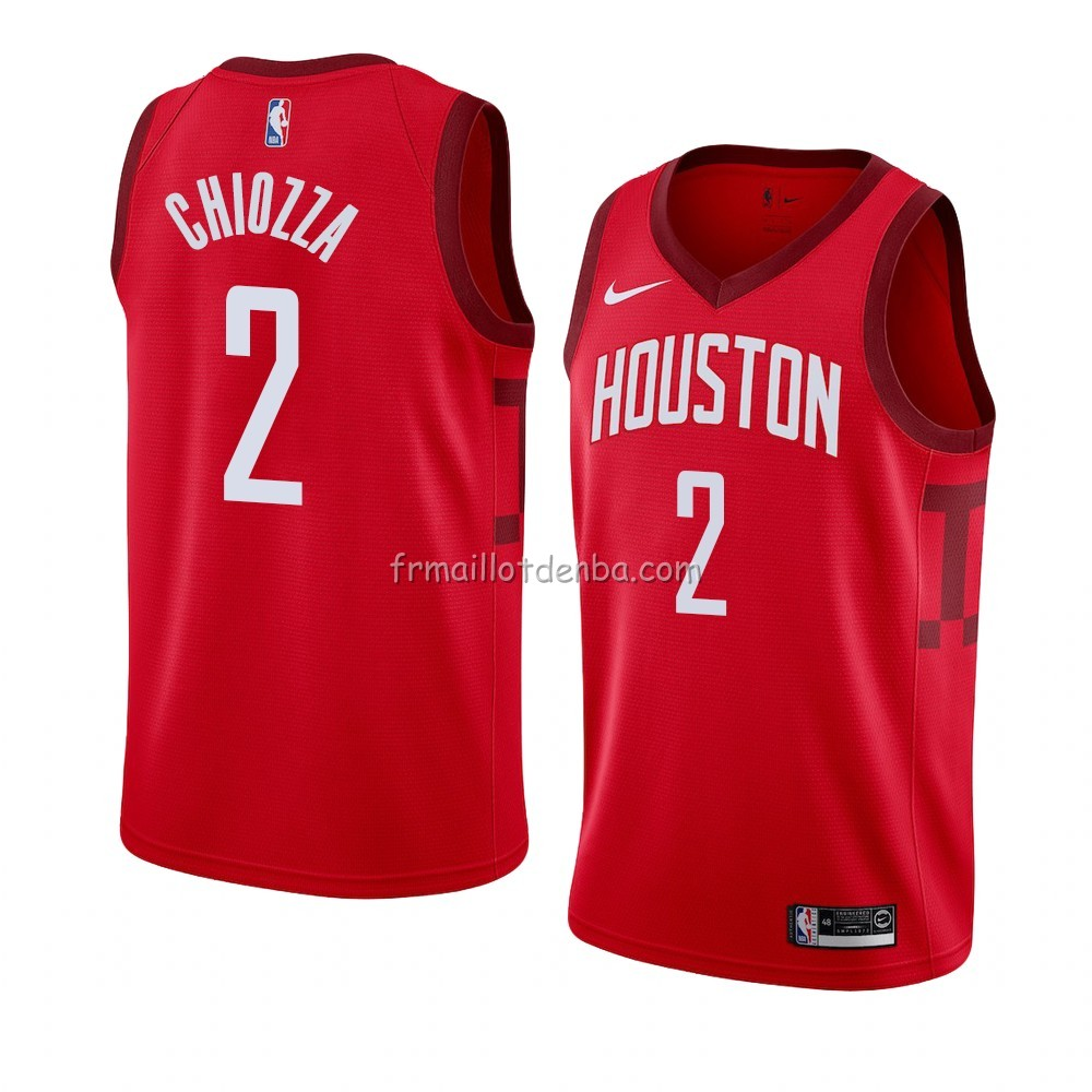 Maillot Houston Rockets Chris Chiozza Earned 2018-19 Rouge