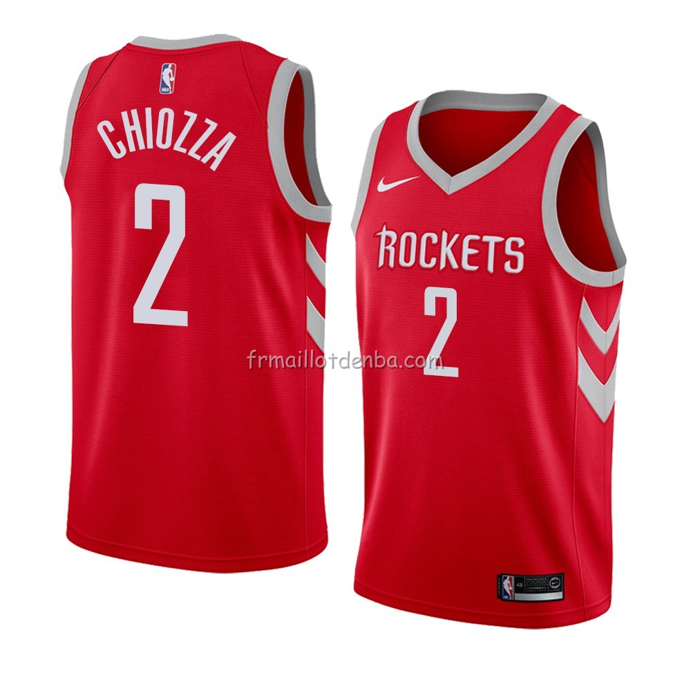 Maillot Houston Rockets Chris Chiozza Icon 2018 Rouge