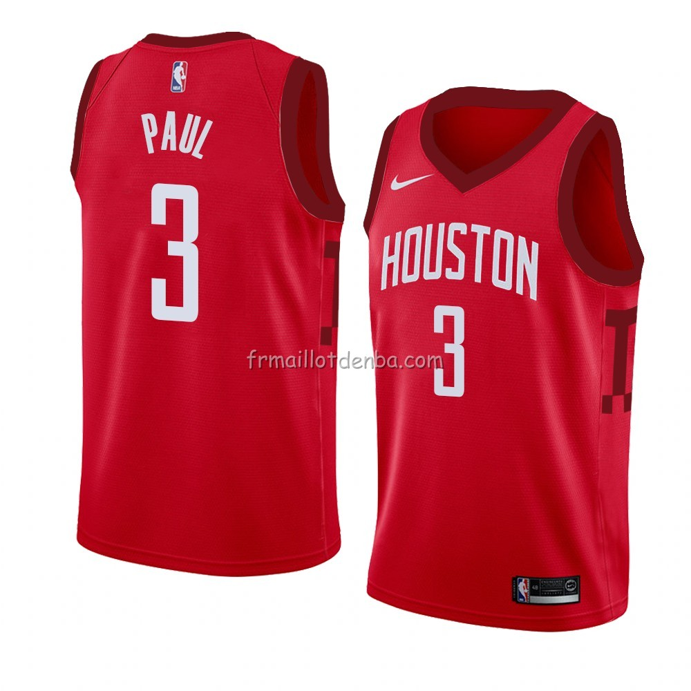 Maillot Houston Rockets Chris Paul Earned 2018-19 Rouge