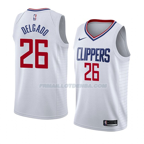 Maillot Los Angeles Clippers Angel Delgado Association 2018 Blanc