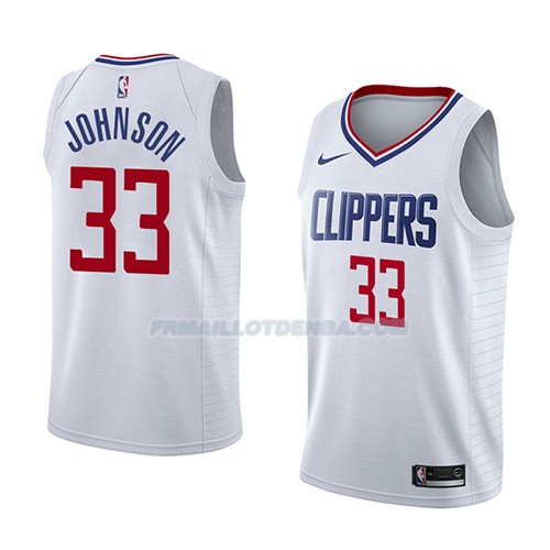 Maillot Los Angeles Clippers Wesley Johnson Association 2018 Blanc
