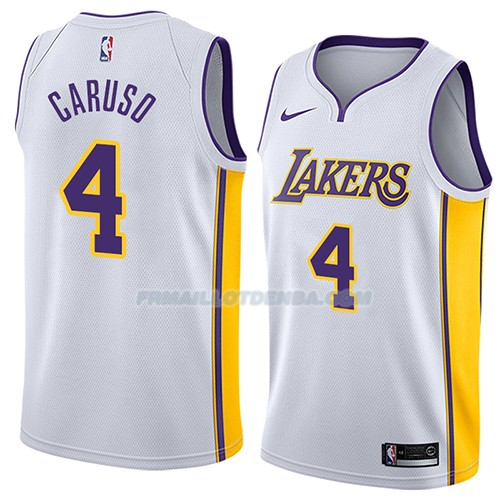 Maillot Los Angeles Lakers Alex Caruso Association 2018 Blanc