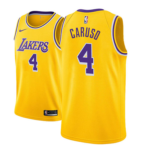 Maillot Los Angeles Lakers Alex Caruso Icon 2018-19 Or