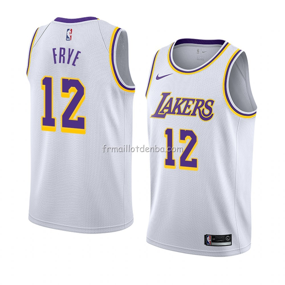 Maillot Los Angeles Lakers Channing Frye Association 2018-19 Blanc
