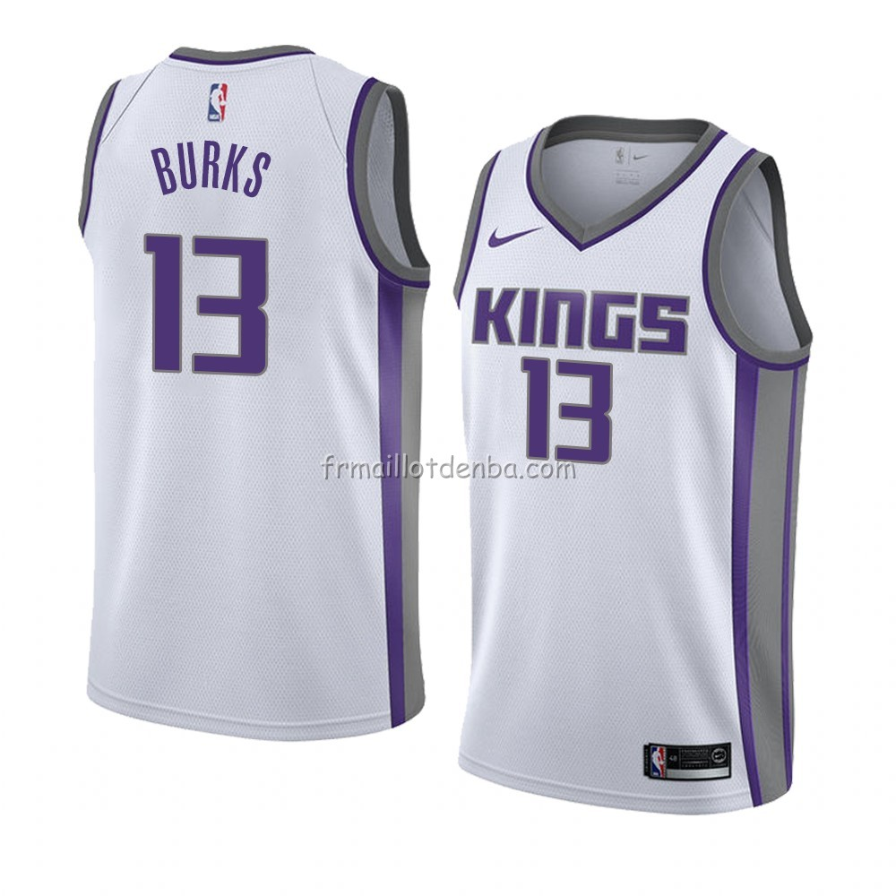 Maillot Sacramento Kings Alec Burks Association 2018 Blanc