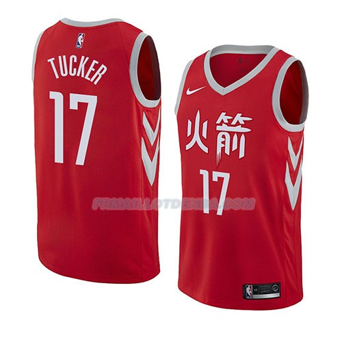 Maillot Houston Rockets City P.j. Tucker Ciudad 2018 Rouge