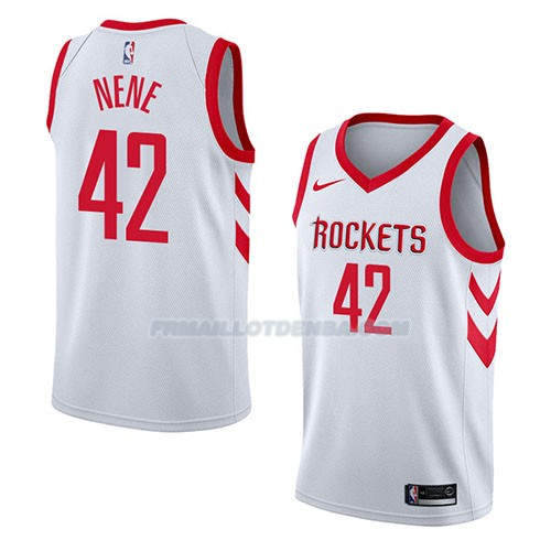 Maillot Houston Rockets Nene Association 2018 Blanc