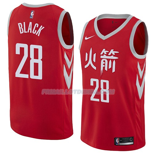 Maillot Houston Rockets Tarik Black Ciudad 2018 Rouge