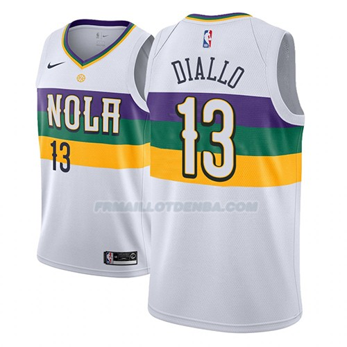 Maillot New Orleans Pelicans Cheick Diallo Ciudad 2018-19 Blanc