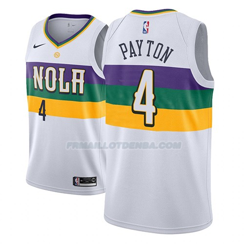 Maillot New Orleans Pelicans Elfrid Payton Ciudad 2018-19 Blanc