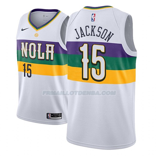 Maillot New Orleans Pelicans Frank Jackson Ciudad 2018-19 Blanc