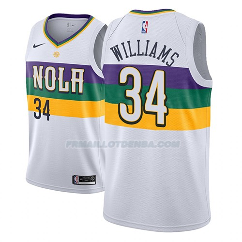 Maillot New Orleans Pelicans Kenrich Williams Ciudad 2018-19 Blanc