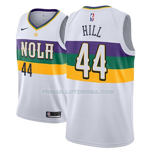 Maillot New Orleans Pelicans Solomon Hill Ciudad 2018-19 Blanc