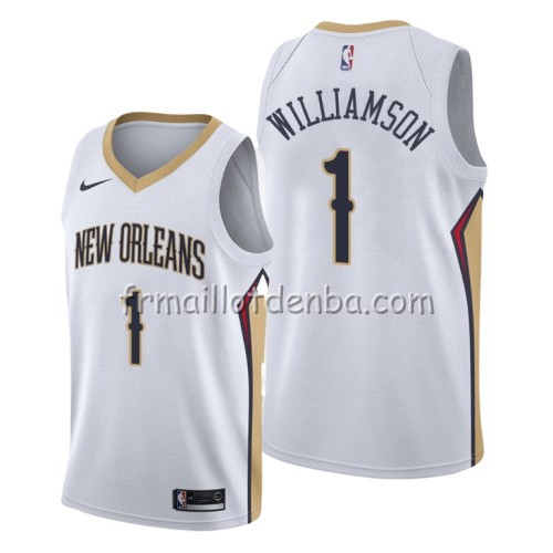 Maillot New Orleans Pelicans Zion Williamson Association 2019-20 Blanc