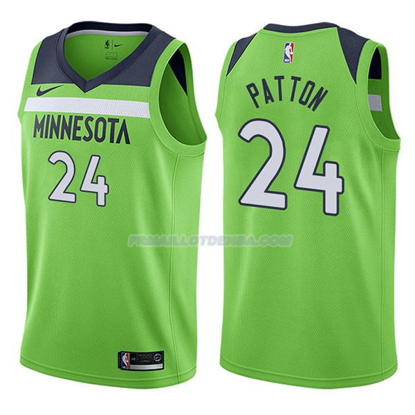 Maillot Minnesota Timberwolves Justin Patton Statehombret 2017-18 24 Verde