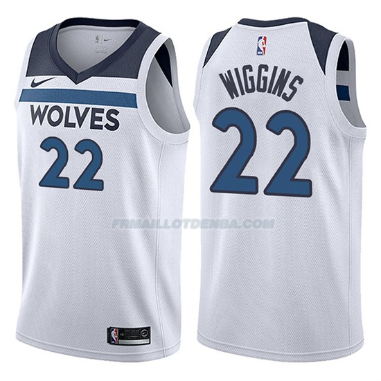 Maillot Basket Timberwolves Andrew Wiggins 2017-18 22 Blanc
